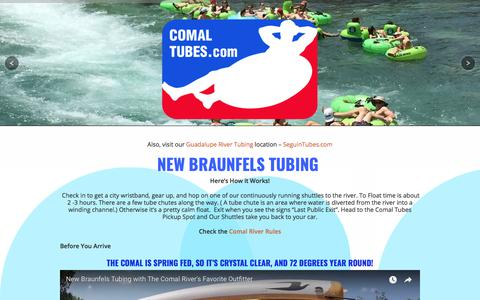 Screenshot of About Page Maps & Directions Page comaltubes.com - New Braunfels Tubing | Comal River Tube Rental | Float with Us - captured Sept. 24, 2018