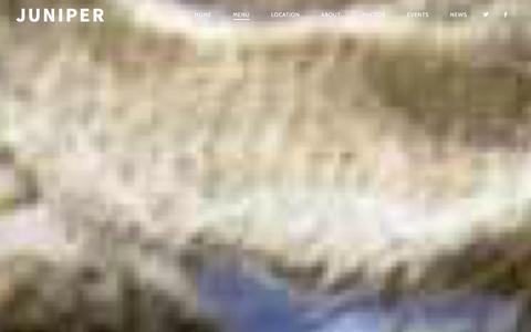 Screenshot of Menu Page junipershop.com - Menu | JUNIPER - captured Dec. 22, 2015