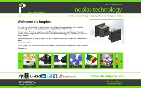 Screenshot of Home Page inoplas.co.uk - Plastic Injection Mouldings | Inoplas - captured Oct. 6, 2014