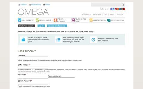 User account | Omega