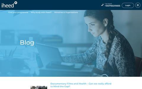 Screenshot of Blog iheed.org - Blog - Online Medical Education Updates from iheed - iheed - captured Oct. 13, 2018