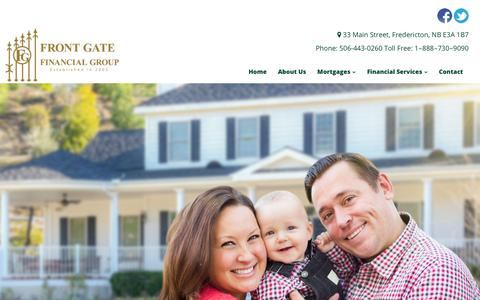 Screenshot of Case Studies Page fgfg.ca - Investments New Brunswick | Case Studies | Front Gate Financial Group - captured Oct. 11, 2018