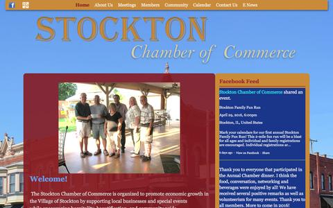 Screenshot of Home Page stocktonil.com - Stockton Chamber of Commerce | Gateway to Jo Daviess County - captured March 10, 2016