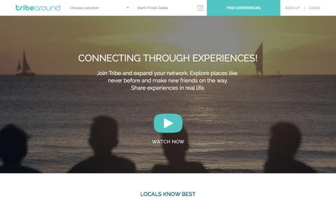 Screenshot of Home Page tribearound.com captured Feb. 27, 2016