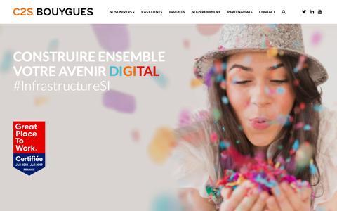Screenshot of Home Page c2s-bouygues.com - C2S Bouygues - Partenaire de vos transformations digitales - captured Sept. 25, 2018