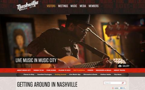 Screenshot of Maps & Directions Page visitmusiccity.com - Getting Around in Nashville - Maps, Travel and Transportation Information | Visit Nashville, TN - Music City - captured Dec. 1, 2016