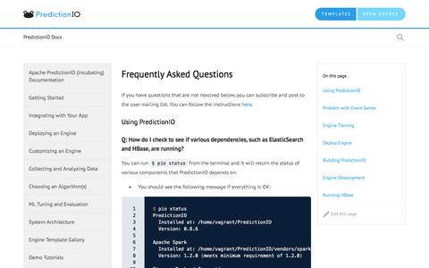 Screenshot of FAQ Page apache.org - Frequently Asked Questions - captured Sept. 22, 2016
