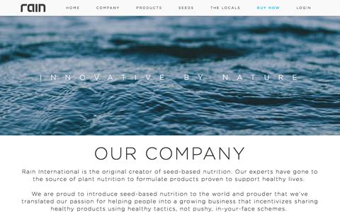 Screenshot of Team Page rainintl.com - Management   Rain - captured Oct. 20, 2016