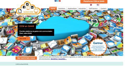 Screenshot of Home Page cloud-ccm.com - cloud-ccm - captured Sept. 30, 2014