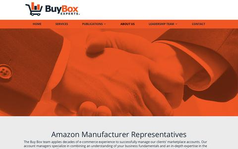 Screenshot of About Page buyboxexperts.com - Amazon Manufacturer Representatives - captured Dec. 6, 2018