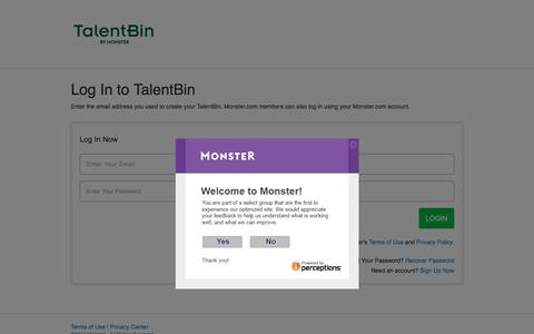 Employer Login | Monster.com