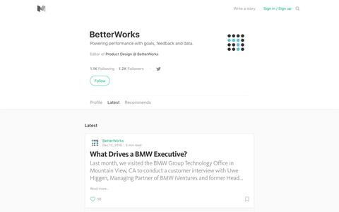 Latest stories written by BetterWorks – Medium