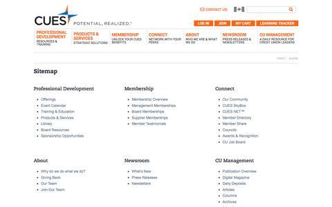 Sitemap | CUES