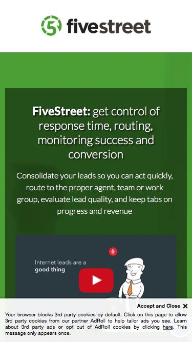 FiveStreet: get control of response time, routing, monitoring success and conversion
