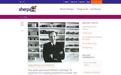 Screenshot of Blog sherpalife.com -   Sherpa - captured Oct. 9, 2014