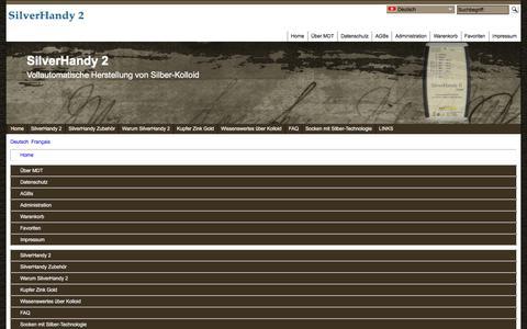 Screenshot of Site Map Page Menu Page silverhandy.com - Map - captured Jan. 21, 2017