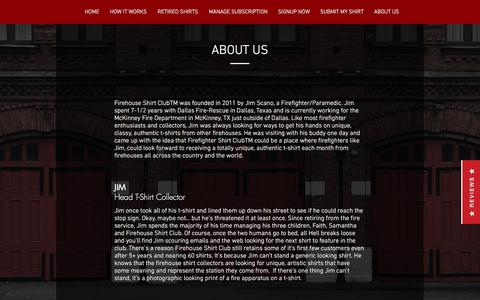 Screenshot of About Page firehouseshirtclub.com - Firehouse Shirt Club | About Us - captured June 6, 2017