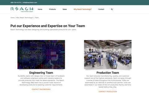 Screenshot of Team Page reachtech.com - Team | Reach Technology - captured Jan. 16, 2020