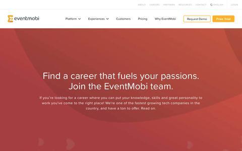 Screenshot of Jobs Page eventmobi.com - Careers – EventMobi - captured Feb. 24, 2018