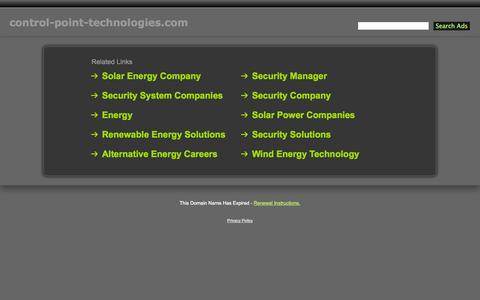 Screenshot of Contact Page control-point-technologies.com - Control-Point-Technologies.com - captured Oct. 8, 2014