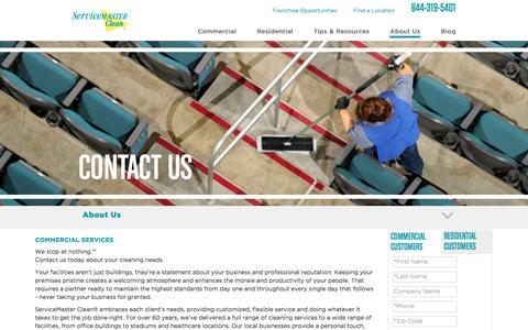 Screenshot of Contact Page servicemasterclean.com - Contact Us - captured June 24, 2016