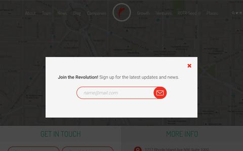 Screenshot of Contact Page revolution.com - Contact Us — Revolution - captured Feb. 14, 2018