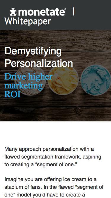 Demystifying Personalization | Whitepaper from Monetate