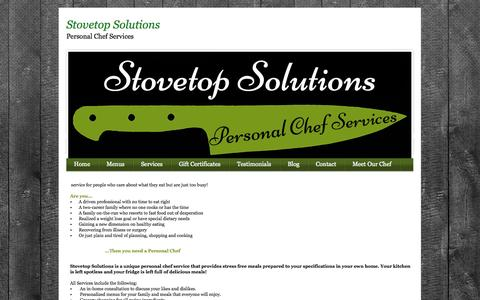 Screenshot of Home Page stovetopsolutions.com - Home - captured Oct. 7, 2014