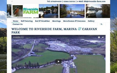 Screenshot of Home Page riverside-farm.com - Welcome to Riverside Farm - Riverside Farm - captured Jan. 27, 2018