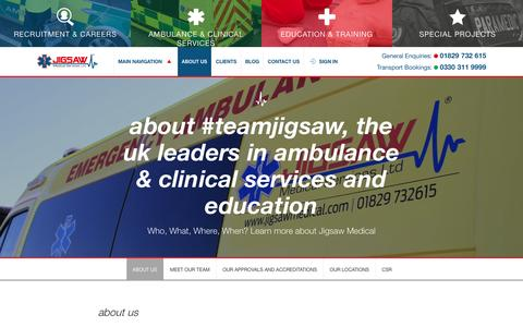 Screenshot of About Page jigsawmedical.com - About Us • Jigsaw Medical Services Ltd - captured Nov. 27, 2016