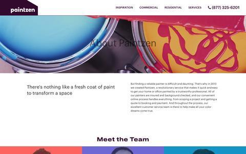 Screenshot of About Page paintzen.com - About | Paintzen - captured Jan. 5, 2017