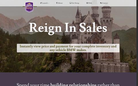 Screenshot of Home Page deskking.net - Sum-Ware, Inc. - captured Jan. 30, 2015