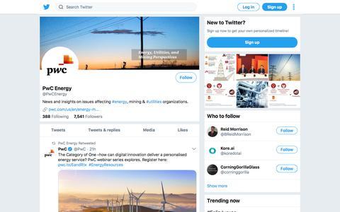 Tweets by PwC Energy (@PwCEnergy) – Twitter