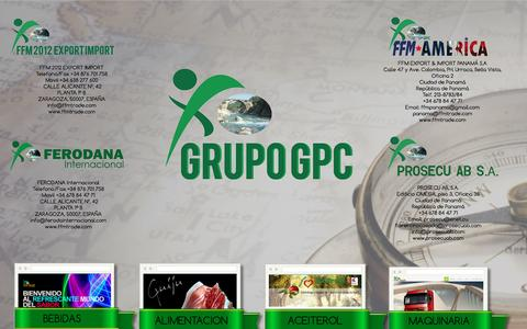 Screenshot of Home Page ffmtrade.com - Grupo GPC - captured Nov. 24, 2016