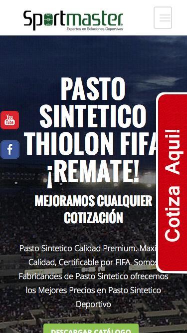 Screenshot of Home Page  pasto-sintetico.com - Pasto SintŽtico MŽxico Đ Pasto Especial para Canchas de Futbol 7