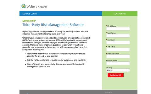 Screenshot of Landing Page datacert.com - Sample RFP: Third-Party Risk Management Software - captured Aug. 17, 2016