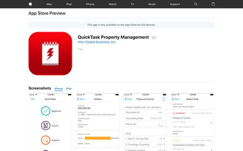 QuickTask Property Management on the App Store