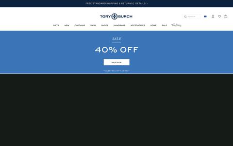 Screenshot of Home Page toryburch.eu - Tory Burch | Women's Clothing, Dresses, Shoes, Handbags & Accessories - captured Dec. 19, 2018