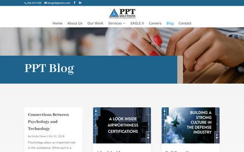 Screenshot of Blog pptsinc.com - Blog | PPT Solutions, Inc. - captured Nov. 9, 2018