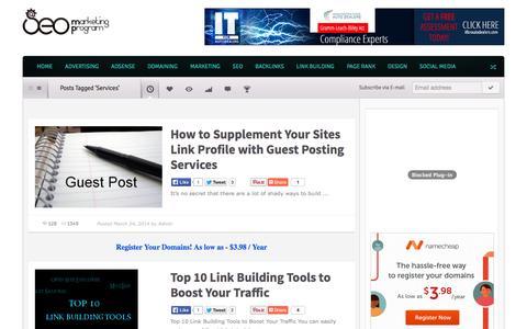 Screenshot of Services Page seomarketingprogram.com - ServicesTop SEO Marketing Tips And Advertising Ideas | Top SEO Marketing Tips and Advertising Ideas - captured Oct. 31, 2014