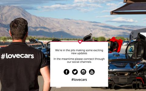 Screenshot of Home Page lovecars.com - Lovecars | The Automotive Social Hub - captured Sept. 10, 2017