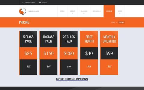 Screenshot of Pricing Page yinyangyogaloft.com - Pricing | - captured Dec. 1, 2015