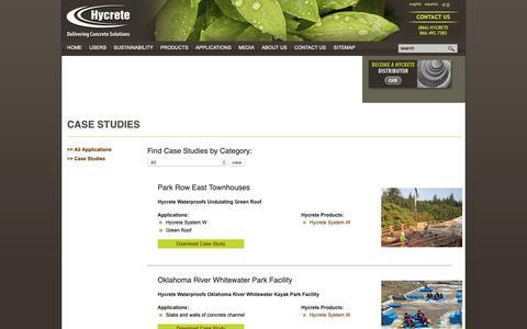 Screenshot of Case Studies Page hycrete.com - Case Studies «  Hycrete, Inc. - captured Oct. 19, 2018