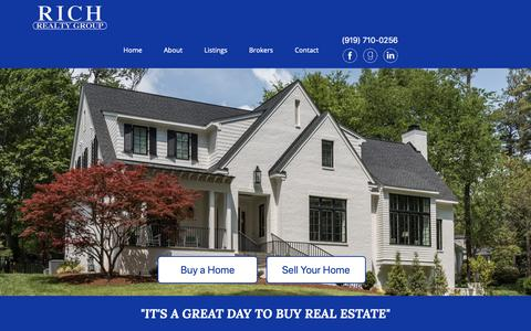 Screenshot of Home Page richrealtygroup.com - Rich Realty Group - captured Oct. 19, 2018