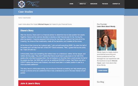 Screenshot of Case Studies Page mitchellhayes.net - Mitchell Hayes - captured Oct. 9, 2014