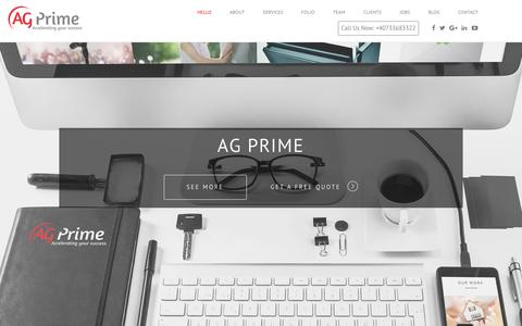 Screenshot of Home Page ag-prime.com - AG Prime - captured May 28, 2017