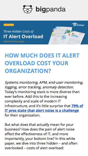 3 Hidden Costs of IT Alert Overload