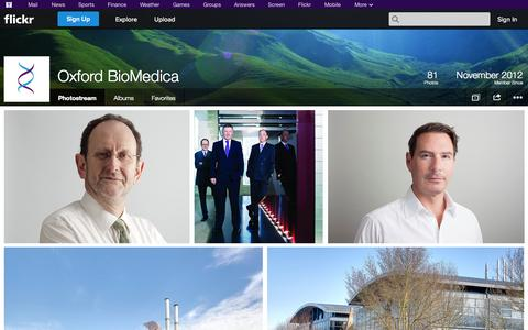 Screenshot of Flickr Page flickr.com - Flickr: Oxford BioMedica's Photostream - captured Oct. 26, 2014