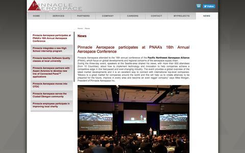 Screenshot of Press Page pinnacleaerospace.com - Welcome to Pinnacle Aerospace - captured Aug. 3, 2017