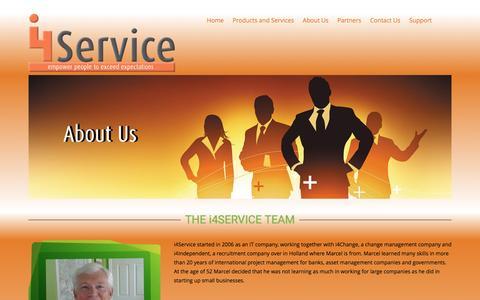 Screenshot of About Page i4service.net - i4Service About Us - i4Service - captured Jan. 9, 2016